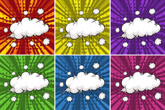 Cloud explosions Royalty Free Stock Photography