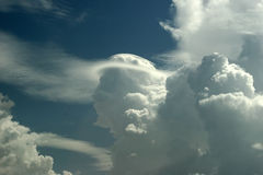 Cloud - face 2. Clouds having a shape of mankind's head from profile Royalty Free Stock Photos