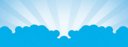 Cloud facebook cover. Fully editable vector Stock Photography