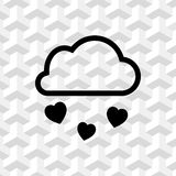 From the cloud falling hearts icon stock vector illustration flat design Royalty Free Stock Photo