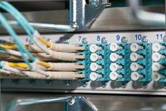Cloud Fiber optical connection redundancy. Fiber optical connection redundancy in a datacenter Royalty Free Stock Photos