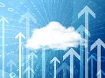 Cloud, figures and arrows Stock Photo