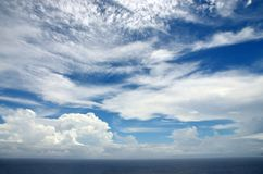 Cloud filled skies Royalty Free Stock Photography
