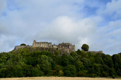 Cloud Filled Skies Over Beautiful Stirling Castle royalty free stock images