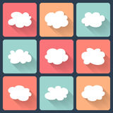 Cloud flat icon set Stock Images