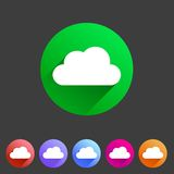 Cloud flat shape icon, set, collection Stock Photography