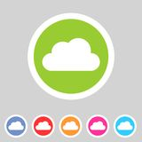 Cloud flat shape icon, set, collection Stock Images