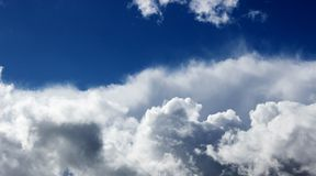 cloud fluffy white Obraz Stock