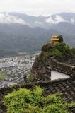 Cloud and fog around the Villa. Of qiyun hill  of China Royalty Free Stock Photography