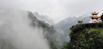 Cloud and fog around the Villa. Of qiyun hill  of China Stock Photos