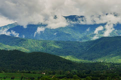 Cloud and fog on mountain. Thailand Royalty Free Stock Image