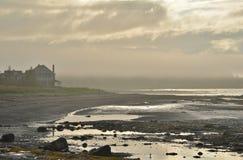 Cloud of fog near sunset creates an etherial mood Stock Photography