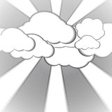 Cloud and foggy paper style background Royalty Free Stock Photography
