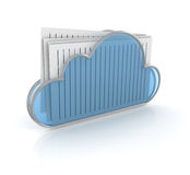 Cloud folder Royalty Free Stock Images