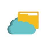 Cloud folder file paper technology. Illustration eps 10 Royalty Free Stock Photos