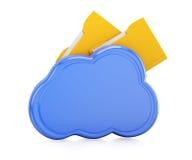 Cloud with folders Stock Photos