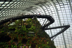 Cloud forest walkway- Gardens by the bay Stock Photo