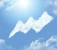 Cloud in the form of a bolt Stock Image