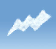 Cloud in the form of bolt Royalty Free Stock Photos