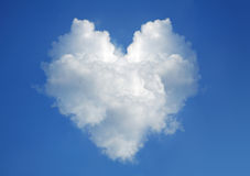 Cloud in the form of heart stock image