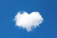 Cloud in the form of heart Royalty Free Stock Photography