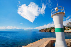 Cloud in the form of heart above a sea Stock Images