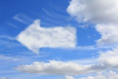 Cloud in the form of  pointer Royalty Free Stock Images