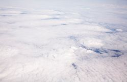 Cloud formation. Aerial view of cloud formation taken from high altitude Stock Photos