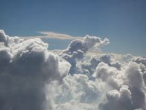 Cloud Formation Above Nevada Desert 4. Cloud formation above the Nevada desert near Las Vegas, as seen from a plane flying just above the clouds. The mushroom stock photos