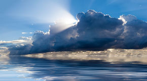 Cloud formation above the ocean Royalty Free Stock Photo