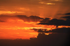 Cloud formation evening Stock Photography