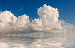 Cloud formation. Reflected in the ocean Royalty Free Stock Photography