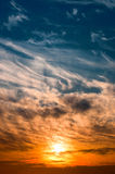 Cloud formation. Cloud sunset over cornwall uk Stock Images