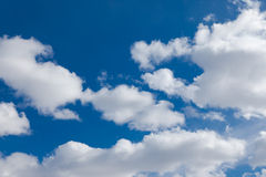 Cloud formations stock image