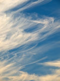 Cloud Formations. Interesting cloud formations during a winter day stock photo