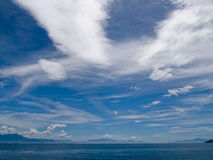 Cloud formations. In shies over coast of Brazil Stock Photos