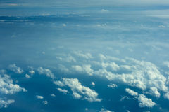 Cloud formations aerial view Royalty Free Stock Photos