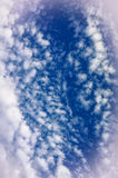 Cloud formations in blue sky Royalty Free Stock Photo