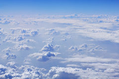 Cloud formations in blue sky Stock Image