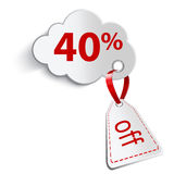 Cloud and forty percent Stock Image