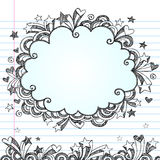 Cloud Frame Doodle Sketchy Vector. Hand-Drawn Sketchy Notebook (Sketchbook) Doodles Vector Illustration of a Cloud Frame Speech Bubble / Thought Bubble in a Royalty Free Stock Photos