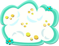 Cloud Frame with Flowers Stock Photos