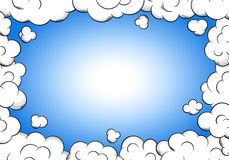 Cloud frame with sky as background Royalty Free Stock Photo