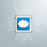 Cloud Futuristic Processor Circuit Board Infographic Royalty Free Stock Photos
