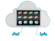 Cloud game concept Royalty Free Stock Photography
