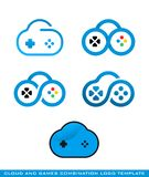 Cloud and games logo template stock photos
