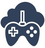Cloud Gaming Isolated Vector Icon that can easily modify or edit. stock illustration
