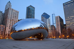Cloud Gate Stock Photo