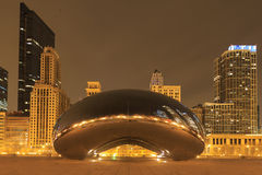 Cloud Gate is the artwork of Anish Kapoor as the famous landmark Royalty Free Stock Photos