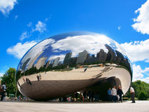 Cloud Gate (The Bean). The Cloud Gate is a public sculpture of the British Anish Kapoor and is at the heart of AT & T Plaza in Millennium Park (Chicago, Illinois Stock Photography